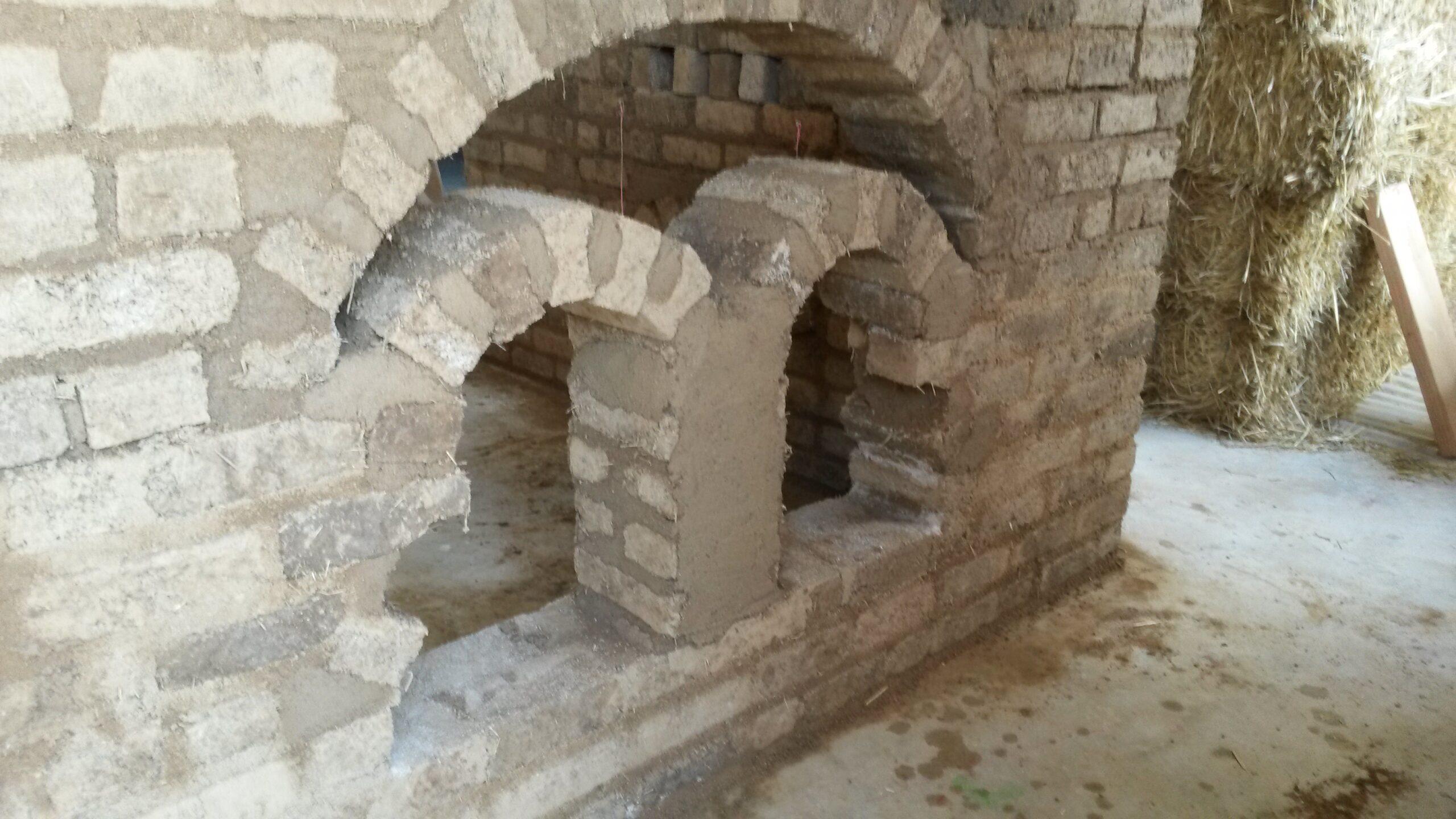 Maçonnerie en briques adobe